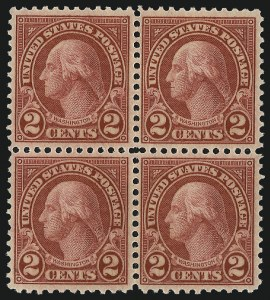 Sale Number 992, Lot Number 2550, 1922-29 and Later Issues (Scott 574 onwards)2c Carmine, Rotary, Perf 11 (595), 2c Carmine, Rotary, Perf 11 (595)