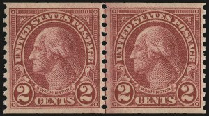 Sale Number 992, Lot Number 2551, 1922-29 and Later Issues (Scott 574 onwards)2c Carmine, Ty. II, Coil (599A), 2c Carmine, Ty. II, Coil (599A)
