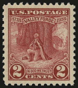 Sale Number 992, Lot Number 2558, 1922-29 and Later Issues (Scott 574 onwards)2c Valley Forge (645), 2c Valley Forge (645)
