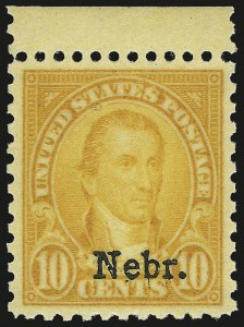 Sale Number 992, Lot Number 2563, 1922-29 and Later Issues (Scott 574 onwards)10c Nebr. Ovpt. (679), 10c Nebr. Ovpt. (679)
