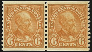 Sale Number 992, Lot Number 2565, 1922-29 and Later Issues (Scott 574 onwards)6c Deep Orange, Coil (723), 6c Deep Orange, Coil (723)