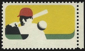 Sale Number 992, Lot Number 2569, 1922-29 and Later Issues (Scott 574 onwards)6c Baseball, Black Omitted (1381a), 6c Baseball, Black Omitted (1381a)