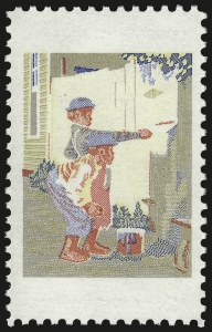 Sale Number 992, Lot Number 2570, 1922-29 and Later Issues (Scott 574 onwards)8c Tom Sawyer, Red and Black Omitted (1470b), 8c Tom Sawyer, Red and Black Omitted (1470b)