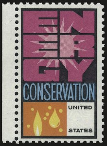 Sale Number 992, Lot Number 2572, 1922-29 and Later Issues (Scott 574 onwards)10c Energy Conservation, Green Omitted (1547c), 10c Energy Conservation, Green Omitted (1547c)