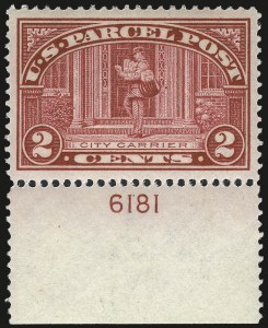 Sale Number 992, Lot Number 2660, Parcel Post, Carriers (Q, JQ, LO, L)2c Parcel Post (Q2), 2c Parcel Post (Q2)