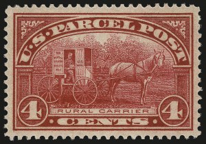 Sale Number 992, Lot Number 2661, Parcel Post, Carriers (Q, JQ, LO, L)4c Parcel Post (Q4), 4c Parcel Post (Q4)