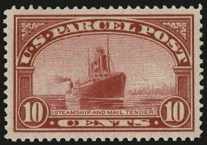 Sale Number 992, Lot Number 2663, Parcel Post, Carriers (Q, JQ, LO, L)10c Parcel Post (Q6), 10c Parcel Post (Q6)