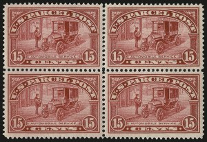 Sale Number 992, Lot Number 2664, Parcel Post, Carriers (Q, JQ, LO, L)15c Parcel Post (Q7), 15c Parcel Post (Q7)