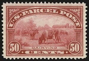 Sale Number 992, Lot Number 2665, Parcel Post, Carriers (Q, JQ, LO, L)50c Parcel Post (Q10), 50c Parcel Post (Q10)