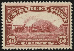 Sale Number 992, Lot Number 2669, Parcel Post, Carriers (Q, JQ, LO, L)75c Parcel Post (Q11), 75c Parcel Post (Q11)