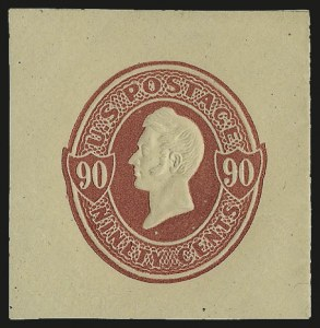 Sale Number 992, Lot Number 2676, Parcel Post, Carriers (Q, JQ, LO, L)90c Carmine on Cream (U213), 90c Carmine on Cream (U213)