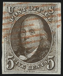 Sale Number 993, Lot Number 121, 5c 1847 Issue - Double Transfers5c Brown, Double Transfer Ty. A (1-A), 5c Brown, Double Transfer Ty. A (1-A)