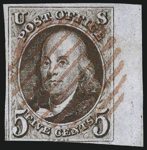 Sale Number 993, Lot Number 124, 5c 1847 Issue - Double Transfers5c Brown, Double Transfer Ty. B (1-B), 5c Brown, Double Transfer Ty. B (1-B)