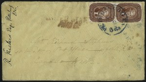 Sale Number 993, Lot Number 315, 5c 1857-60 Issue Off Cover5c Bright Red Brown, Defective Transfer (28b var), 5c Bright Red Brown, Defective Transfer (28b var)