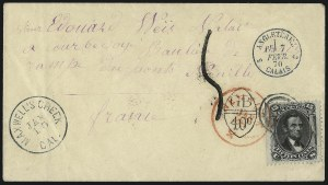 Sale Number 995, Lot Number 2133, 12c and 15c 1861-68 Issue - France15c Black, E. Grill (91), 15c Black, E. Grill (91)