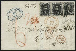 Sale Number 995, Lot Number 2150, 12c and 15c 1861-68 Issue - Spain15c Black, E. Grill (91), 15c Black, E. Grill (91)