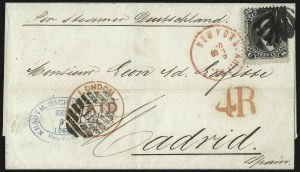 Sale Number 995, Lot Number 2151, 12c and 15c 1861-68 Issue - Spain15c Black, E. Grill (91), 15c Black, E. Grill (91)
