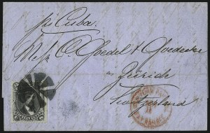 Sale Number 995, Lot Number 2200, 12c and 15c 1861-68 Issue - Switzerland15c Black, E. Grill (91), 15c Black, E. Grill (91)