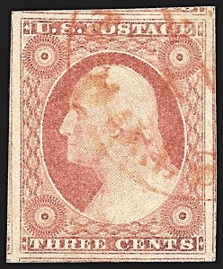 Sale Number 996, Lot Number 3086, 1851 3c Dull Red - Used3c Dull Red, Ty. II (11A), 3c Dull Red, Ty. II (11A)