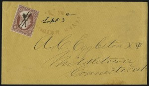 Sale Number 996, Lot Number 3121, 3c Dull Red Shades - Covers3c Brownish Carmine, Ty. II (11A), 3c Brownish Carmine, Ty. II (11A)