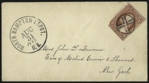 Sale Number 996, Lot Number 3122, 3c Dull Red Shades - Covers3c Brownish Carmine, Ty. I (11), 3c Brownish Carmine, Ty. I (11)