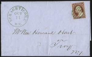 Sale Number 996, Lot Number 3128, 3c Dull Red Shades - Covers3c Brownish Carmine, Ty. II (11A), 3c Brownish Carmine, Ty. II (11A)