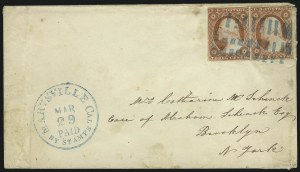 Sale Number 996, Lot Number 3148, 3c Dull Red Shades - Covers3c Dull Red, Ty. II (11A), 3c Dull Red, Ty. II (11A)
