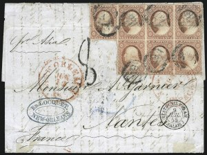 Sale Number 996, Lot Number 3156, 3c Dull Red Shades - Covers and Groups3c Rose Red, Ty. II (11A), 3c Rose Red, Ty. II (11A)
