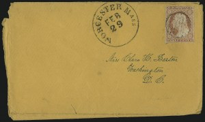 Sale Number 996, Lot Number 3158, 3c Dull Red Shades - Covers and Groups3c Dull Red, Ty. II (11A), 3c Dull Red, Ty. II (11A)