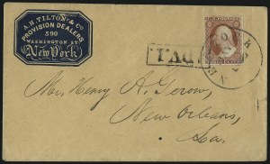 Sale Number 996, Lot Number 3159, 3c Dull Red Shades - Covers and Groups3c Dull Red, Ty. II, Advertised Covers (11A), 3c Dull Red, Ty. II, Advertised Covers (11A)