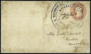 Sale Number 996, Lot Number 3160, 3c Dull Red Shades - Covers and Groups3c 1851-57 Issues, County Postmarks (11/26), 3c 1851-57 Issues, County Postmarks (11/26)