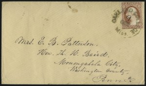 Sale Number 996, Lot Number 3164, 3c Dull Red Shades - Covers and Groups3c 1851-57 Issues, College Postmarks (11/26), 3c 1851-57 Issues, College Postmarks (11/26)