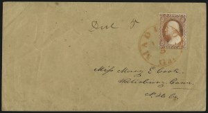 Sale Number 996, Lot Number 3167, 3c Dull Red Shades - Covers and Groups3c 1851-57 Issues, Orange Cancels on Cover (11A/26), 3c 1851-57 Issues, Orange Cancels on Cover (11A/26)