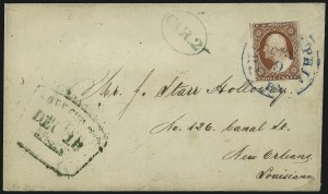 Sale Number 996, Lot Number 3169, 3c Dull Red Shades - Covers and Groups3c 1851-57 Issues, Carrier and Local Usages (11/26), 3c 1851-57 Issues, Carrier and Local Usages (11/26)