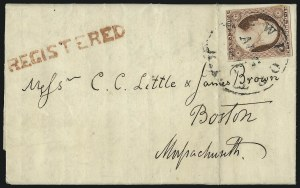 Sale Number 996, Lot Number 3170, 3c Dull Red Shades - Covers and Groups3c Dull Red, Ty. II, Registered Covers (11A), 3c Dull Red, Ty. II, Registered Covers (11A)