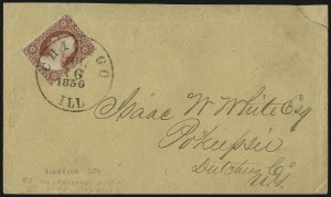 Sale Number 996, Lot Number 3183, Chicago Perforation3c Brownish Carmine, Ty. II, Chicago Perf 12-1/2 (11A var), 3c Brownish Carmine, Ty. II, Chicago Perf 12-1/2 (11A var)