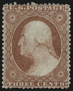 Sale Number 996, Lot Number 3188, 1857 3c Perforated Issue - Type I3c Rose, Ty. I (25), 3c Rose, Ty. I (25)