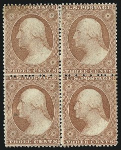 Sale Number 996, Lot Number 3189, 1857 3c Perforated Issue - Type I3c Rose, Ty. I (25), 3c Rose, Ty. I (25)