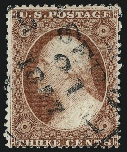 "Sale Number 996, Lot Number 3192, 1857 3c Perforated Issue - Type I3c Rose, Ty. I, ""Recut Bust"" (25 var), 3c Rose, Ty. I, ""Recut Bust"" (25 var)"
