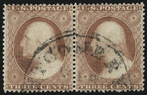 Sale Number 996, Lot Number 3194, 1857 3c Perforated Issue - Type I3c Rose, Ty. I (25), 3c Rose, Ty. I (25)