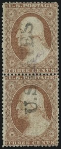 Sale Number 996, Lot Number 3195, 1857 3c Perforated Issue - Type I3c Rose, Ty. I-II (25-25A), 3c Rose, Ty. I-II (25-25A)