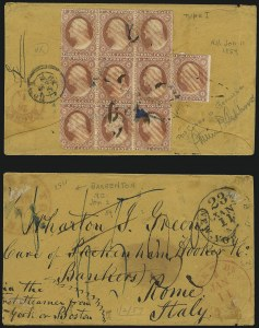 Sale Number 996, Lot Number 3199, 1857 3c Perforated Issue - Type I3c Rose, Ty. I (25), 3c Rose, Ty. I (25)