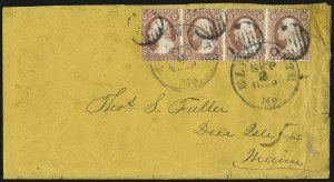 Sale Number 996, Lot Number 3200, 1857 3c Perforated Issue - Type I3c Rose, Ty. I (25), 3c Rose, Ty. I (25)