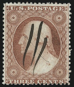 Sale Number 996, Lot Number 3216, 1857 3c Perforated Issue - Type III Flaws and Varieties3c Dull Red, Ty. III (26), 3c Dull Red, Ty. III (26)