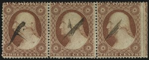 Sale Number 996, Lot Number 3217, 1857 3c Perforated Issue - Type III Flaws and Varieties3c Dull Red, Ty. III (26), 3c Dull Red, Ty. III (26)