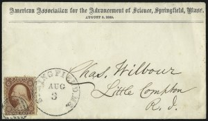 Sale Number 996, Lot Number 3218, 1857 3c Perforated Issue - Type III Flaws and Varieties3c Dull Red, Ty. III, Plate Crack (26), 3c Dull Red, Ty. III, Plate Crack (26)