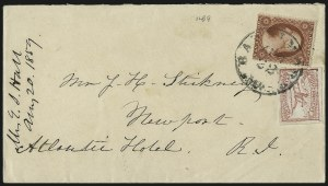 Sale Number 996, Lot Number 3248, 1857 3c Perforated Issue - Type III Carrier & Local CombinationsBaltimore Md., 1c Red (1LB9), Baltimore Md., 1c Red (1LB9)