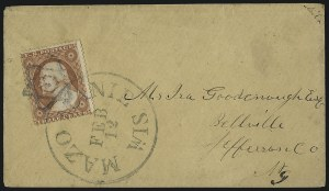 Sale Number 996, Lot Number 3254, 1857 3c Perforated Issue - Type III Balances3c Dull Red, Ty. III, Star and Fancy Cancels on Cover (26), 3c Dull Red, Ty. III, Star and Fancy Cancels on Cover (26)