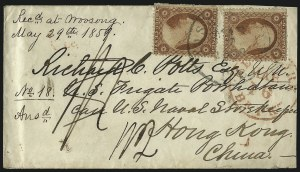 Sale Number 996, Lot Number 3276, 1857 3c Perforated Issue - Type IV Covers3c Dull Red, Ty. IV (26A), 3c Dull Red, Ty. IV (26A)