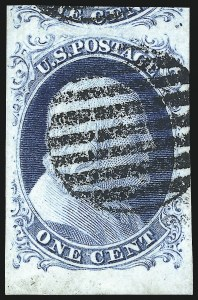 Sale Number 997, Lot Number 5123, 1c 1851-56 Issue (Scott 5-9)1c Blue, Ty. II (7), 1c Blue, Ty. II (7)